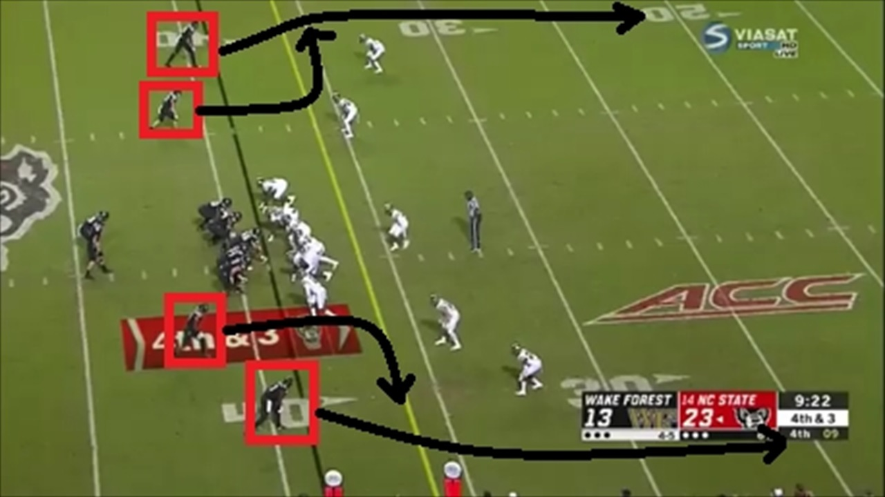 IPS FILM ROOM: NC State's Fourth-Down Pass To C J  Riley